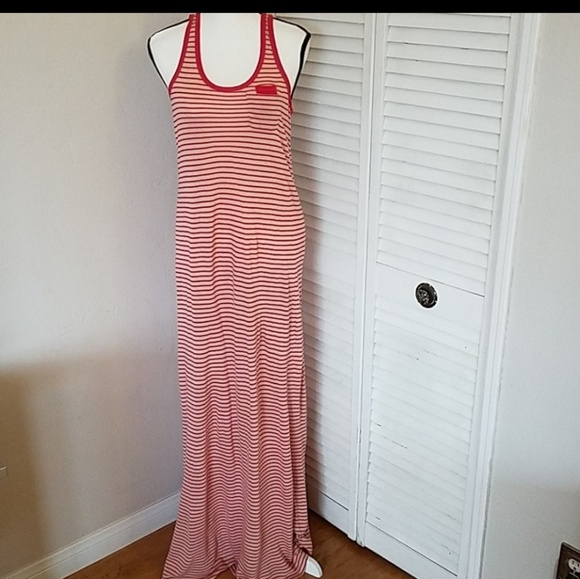 Juicy Couture Dresses & Skirts - Juicy Couture Red/White Striped Maxi Dress